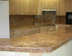 Granite Kitchen Countertop Ideas Tile Kitchen Countertops In Modern House