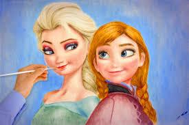 frozen elsa anna amazing draw walt disney pictures
