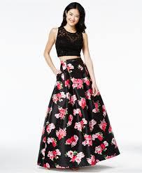 b darlin juniors u0027 2 pc floral print gown a macy u0027s exclusive