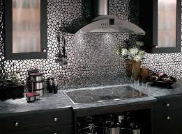 metallic kitchen backsplash metal wall tiles kitchen backsplash zyouhoukan from surprising