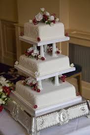 stacking wedding cakes with pillars wedding dress pinterest