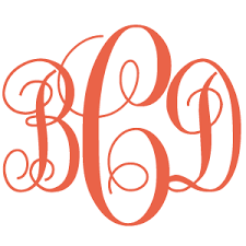 three letter monogram metal three letter monogram within circle border three letter