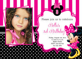 template cheap minnie mouse birthday invitations custom with