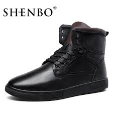 shenbo brand russia style winter super warm men boots high