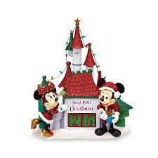 countdown calendar mickey minnie with castle