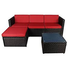 amazon com madison home modern outdoor garden sectional wicker