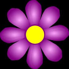 violet flower with dew png clipar clip art library