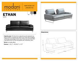 Sofa Sizes Gray Ethan Sofa With A Beautiful Premium Finishing