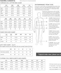 curtain call costumes size chart curtain call size chart 2017 savae org