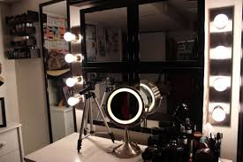 Makeup Lighted Mirror Vanity Bench Set Bedroom Remarkable Makeup Table With Lights