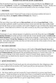 house lease templates download free u0026 premium templates forms