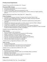 Secretary Resume Duties Secretary Resume Executive Secretary Sample Resume Executive