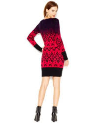 jessica simpson ombre patterned knit sweater dress dresses