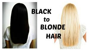 what to dye your hair when its black how to bleach black hair blonde youtube