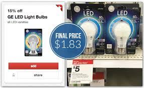 Ge Led Light Bulbs Ge Energy Smart Led Light Bulbs Only 1 83 At Target Reg 7 99