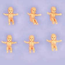 mardi gras babies amscan miniature baby charms plastic baby shower party