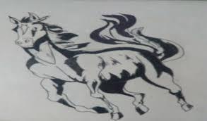 piyush chauhan u0027s painting u0027black beauty u0027