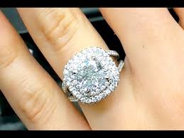 3 carat ring 3 carat cushion cut diamond halo engagement ring
