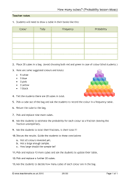 ks3 probability resources teachit maths