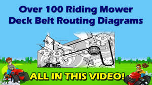 Riding Mower Deck Belt Diagrams Diy Repair Manual Ayp Mtd John