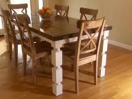 Build A Wood Table Top by How To Build A Dining Table From An Old Door And Posts Hgtv