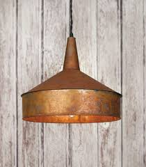 copper farmhouse pendant light copper painted funnel pendant light emory valley mercantile