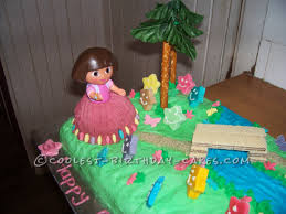 coolest dora scene cake for a 3 year old