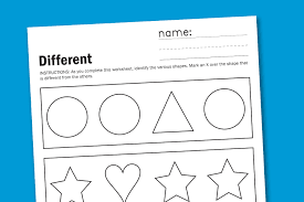free printable worksheets for toddlers toddler worksheet different