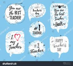 Teachers Day Invitation Card Quotes Happy Teachers Day Labels Greeting Cards Stock Vector 492927913