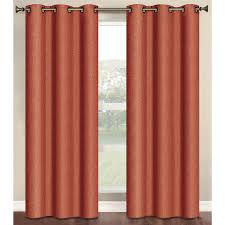 Terracotta Blackout Curtains Semi Opaque Marina Faux Linen 84 In L Room Darkening