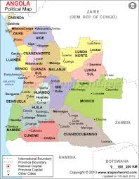 Map Of Canada Cities And Provinces by Political Map Of Angola Angola Provinces Map