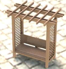 Free Woodworking Plans Bench Seat by Arbor With Seat Plans Garden Arbor Bench Free Plans Corner Arbor