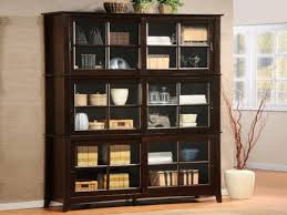 Solid Wood Bookcases With Glass Doors 49 Book Shelves Doors Furniture Oak Wall Unit Bookshelves With
