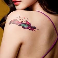 tattoo bulu 3d etiqueta do tatuagem temporária à prova d água colorido tatuagem