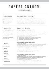 Vestibulum Sapin Prin Quam by Clean Professional Resume Template Resume Templates Creative