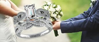 emerald cut wedding set emerald cut diamond wedding sets
