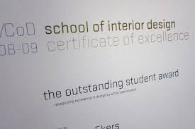 Certificate Of Interior Design by Uk Cod M1 Dtw