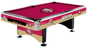 Nfl San Francisco 49ers Pool Table Pool Tables San Francisco