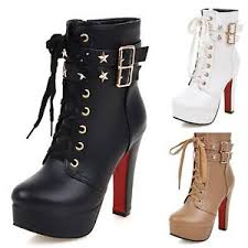 womens boots uk size 11 rock faux leather booties buckle studded womens ankle boots