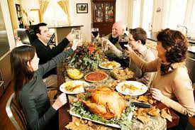 thanksgiving is meant for family not for shopping concept home