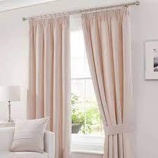 Curtain Pole Dunelm Chenille Cream Lined Pencil Pleat Curtains Dunelm