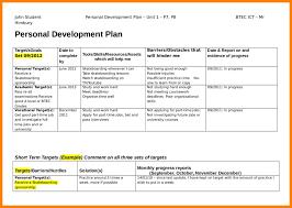 template personal development plan sample personal development