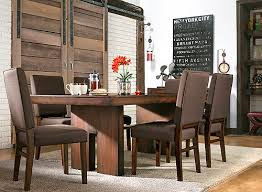 Raymour And Flanigan Dining Room Teagan 7 Pc Dining Set Chocolate Walnut Raymour U0026 Flanigan