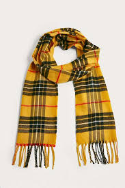 uo yellow plaid scarf outfitters