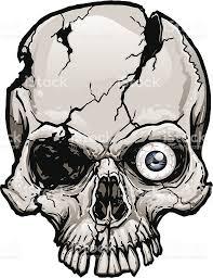 Halloween Skull Drawings Damaged Skull Stock Vector Art 165642423 Istock