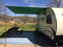 Awning For Travel Trailer Awning Made From Ripstop Tarp And Keder Took About A Hour To