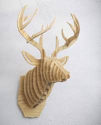 wooden handicrafts home ornament wall mounted deer for