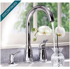 price pfister contempra kitchen faucet polished chrome contempra 1 handle kitchen faucet 526 50cc
