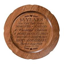 65th wedding anniversary gifts 65th wedding anniversary plate gift for sixty