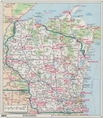 Map Of Central Wisconsin by Download Road Map Wisconsin Major Tourist Attractions Maps